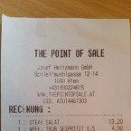 Rechnung - Point of Sale - Wien