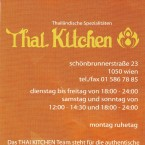 Thai Kitchen Flyer - Thai Kitchen Restaurant - Wien