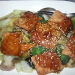 Lachs in Teriyaki Sauce