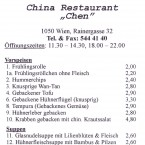 China Restaurant Chen - Flyer 01 - China Restaurant Chen - Wien