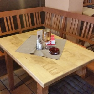 Tisch im Raucherbereich - The BBQ Steak House - Biedermannsdorf
