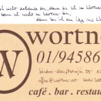 Wortner - Visitenkarte - Café Wortner - Wien