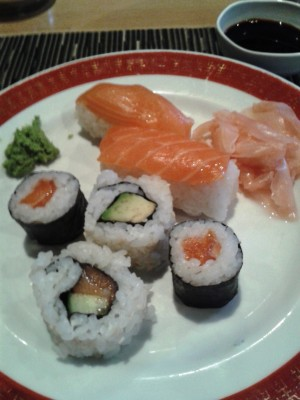 Lucky Friend - Sushi-, Maki-Auswahl vom Buffet - China-Restaurant Lucky Friend - Wien