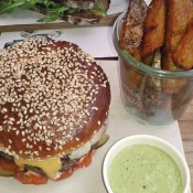 Dry Aged Gruyere Cheese Burger 