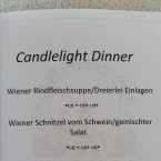 Speisenkarte - Riesenrad - Candlelight Dinner for Two - Wien
