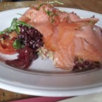 Open Smoked Irish Salmon Sandwich on Home-Made Bread with Dill Mayo and ... - O'Connors Old Oak - Wien