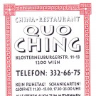 China Restaurant Quo Ching Visitenkarte