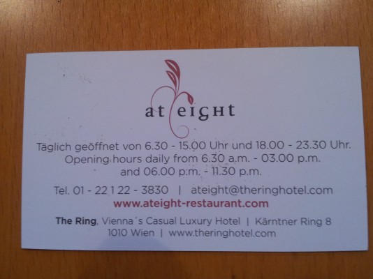 At Eight - Hotel The Ring - Wien
