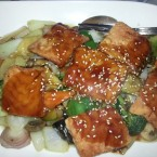 Lachs in Teriyaki Sauce - China-Restaurant Hui-Feng - Wien