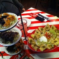 Jack Daniels Tower & Chicken Fajita Nachos - TGI Friday's - Wien