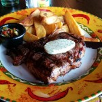 Rib Eye Steak mit Potato Wedges