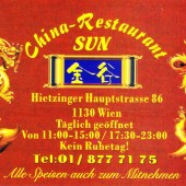 China Restaurant Sun Hietzing - Visitenkarte - China-Restaurant Sun - Wien