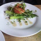 Soft Poached Hens Egg wrapped in Prosciutto, Green Buttered Asparagus and ... - O'Connors Old Oak - Wien