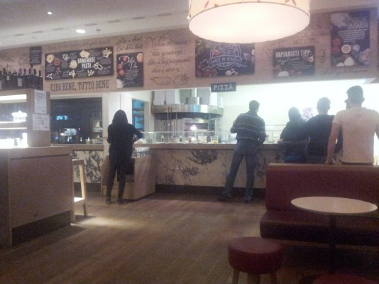 Die Selbstbedienung Vapiano Wien Mitte Wien Restauranttesterat