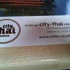 ECHO City Thai - Papier-Tischset - Echo - Der City Thai Vienna - Wien
