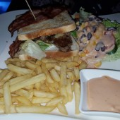 Steak and Bacon Sandwich - Clocktower American Bar & Grill - Wien-Süd - Brunn am Gebirge
