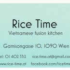 Rice Time - Visitenkarte - Rice Time - Wien