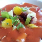 Oktopus, Gazpacho, Chorizo, Sauerrahm - At Eight - Hotel The Ring - Wien