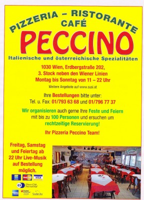Pizzeria Peccino Flyer