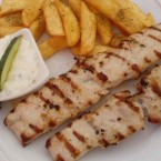 Souvlaki in der Taverne Corfu in Bad Ischl - Taverna Corfu - Bad Ischl