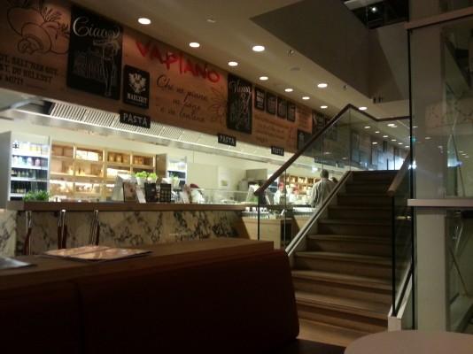 Aufgang Erster Stock Vapiano Wien Mitte Wien Restauranttesterat