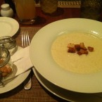 Topinamburcremesuppe mit Croutons - Le Salzgries - Wien