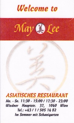 May Lee - Visitenkarte - May Lee - Wien