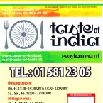 Taste Of India - Flyer Seite 1 - Taste of India - Wien
