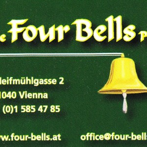 Irish Pub Four Bells Visitenkarte