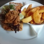 BBQ Pulled Pork Sandwich on toasted Ciabatta served with Wedges - O'Connors Old Oak - Wien