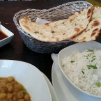 Garlic Naan & Plain rice - Nam Nam - Wien