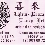 China-Restaurant Lucky Friend Visitenkarte - China-Restaurant Lucky Friend - Wien