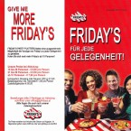 TGI Friday's Homeparty-Flyer - TGI Friday's - Wien