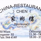 China Restaurant Chen Visitenkarte - China Restaurant Chen - Wien